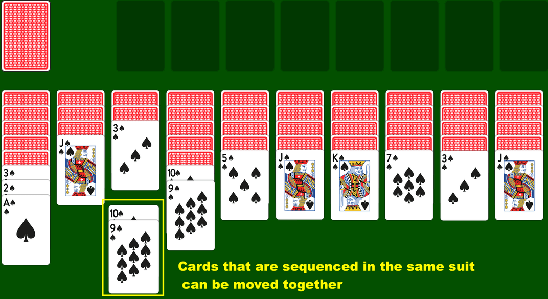 Moving cards in a bunch