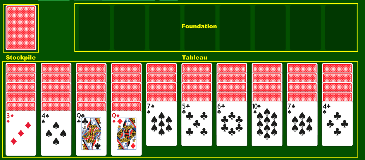 Spider Solitaire terms