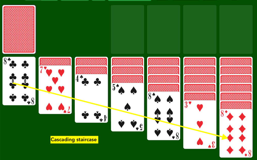 Solitaire set up